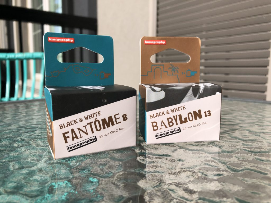 Two boxes of 35mm Film from Lomography Babylon and Fantome